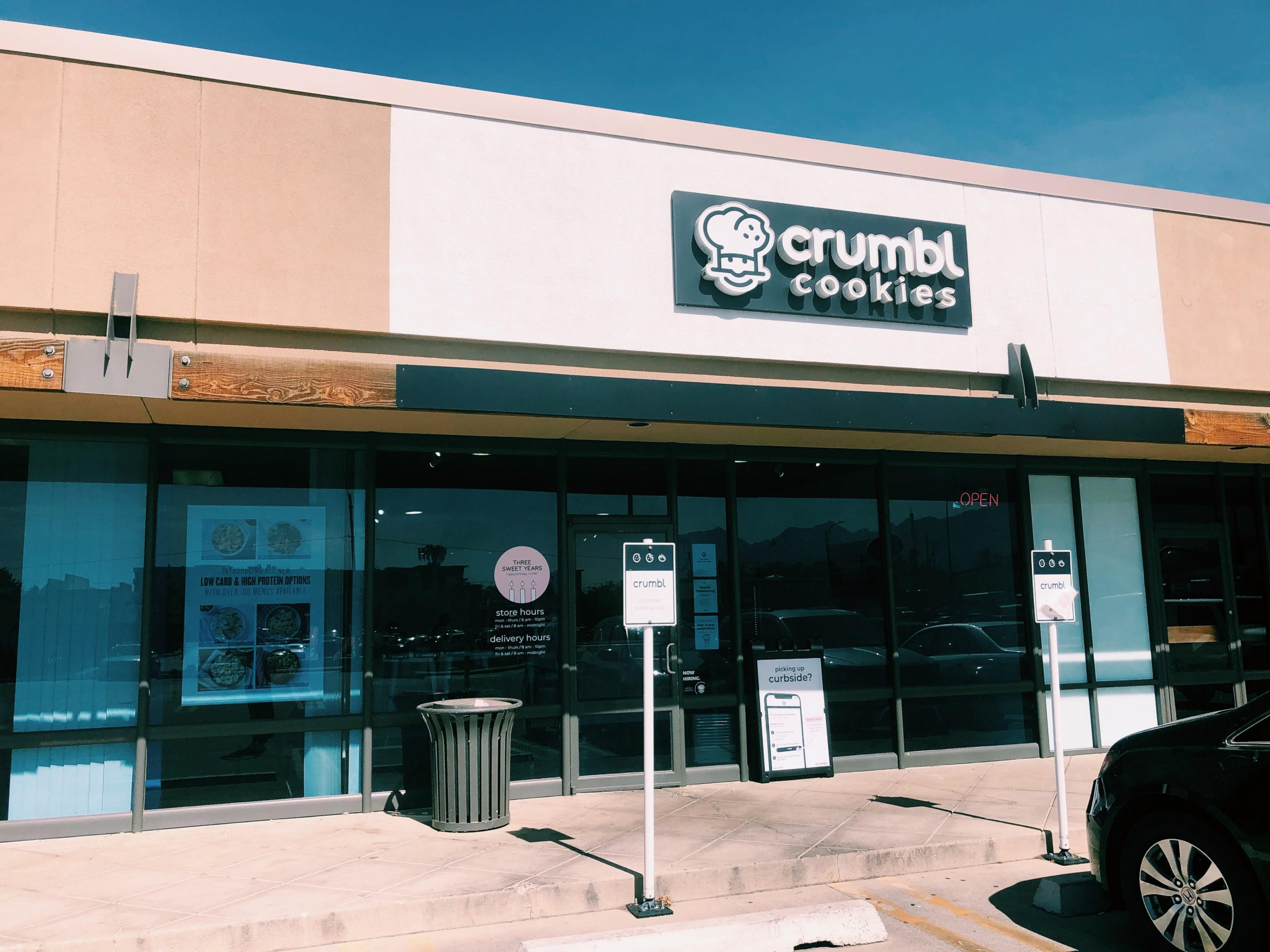 This is Crumbl's storefront in Salt Lake